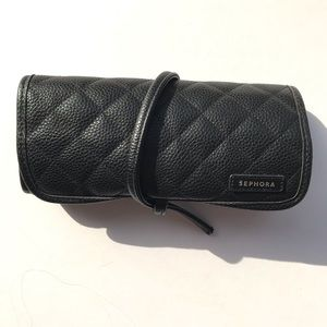 Sephora Black Quilted Brush Rollup Case